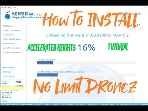 No limit dronez How to install on Mavic 2 pro, NFZ unlock, speed
