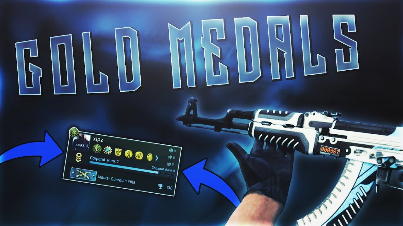 how to get gold medals in cs go