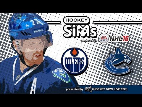 NHL 16 - Oilers vs Canucks (Hockey Sims)