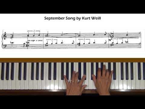 September Song by Kurt Weill Piano Tutorial