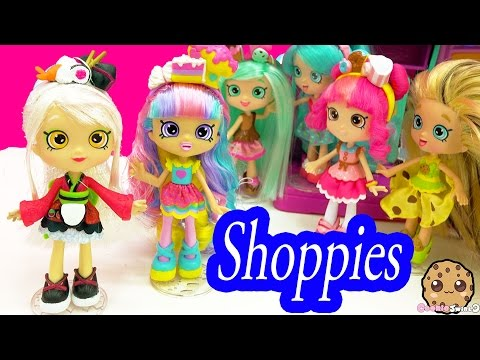 Shopkins Shoppies Rainbow Kate & Sara Sushi Dolls with Season 5 Exclusives and App Card
