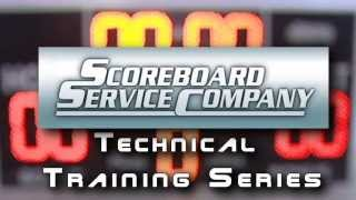Scoreboard Service Company   Indoor Scoreboard Digit Replacement