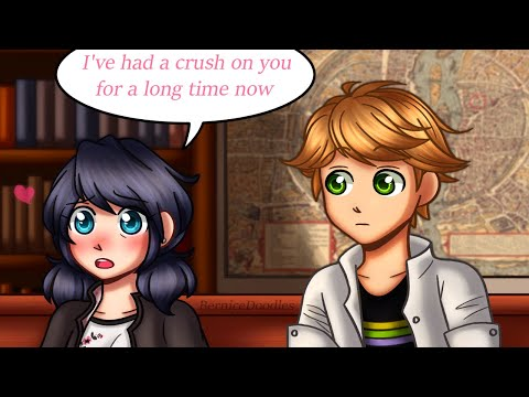 MARI HAS A CRUSH ON ADRIEN || Miraculous Ladybug Comic Dub C