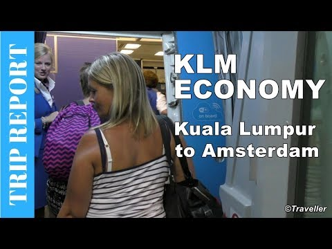 KLM ECONOMY CLASS flight from Kuala Lumpur - Boeing 777 Trip Report - Long Haul Flight