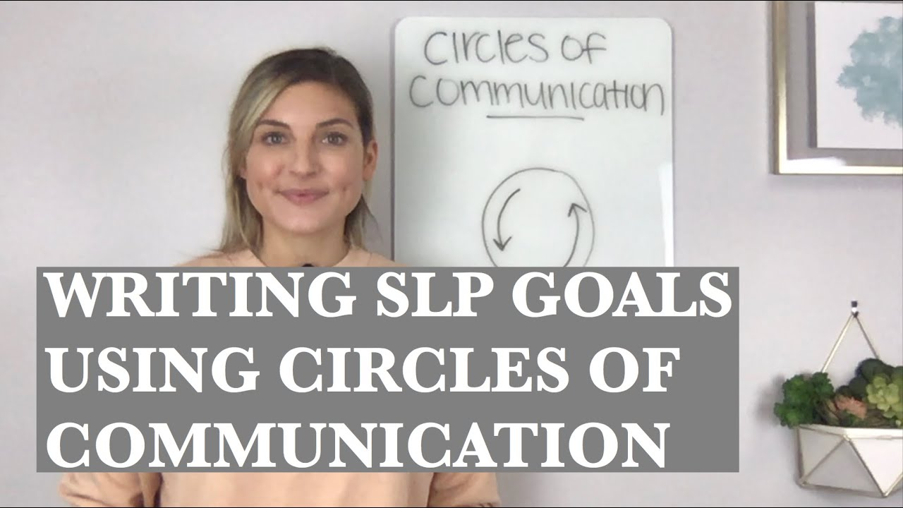 Writing SLP Goals for Engagement Using Circles of Communication