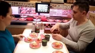 Японское Кафе в Осаке - суши и сашими - Путешествие по Японии