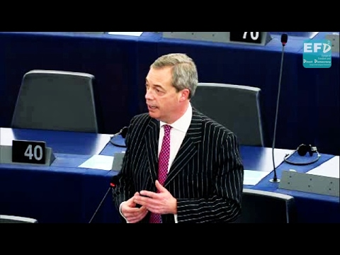 Nigel Farage calls for debate in light of victimisation of Eurosceptic groups in European Parliament