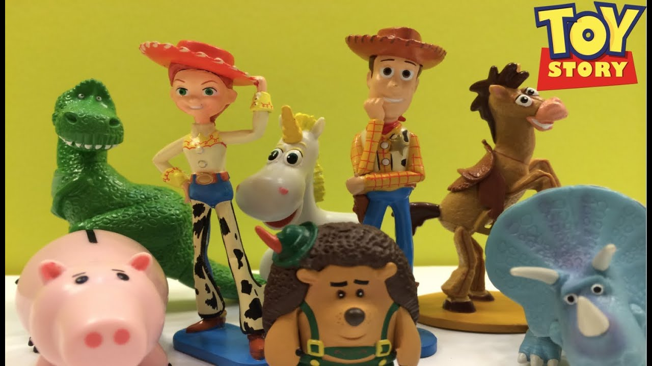 Toy Story Action Figures Set : Amazon disney toy story deluxe mini figure set of with