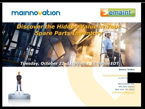 Best Practices Webinar: Discover the Hidden Value in Your Spare Parts Inventory