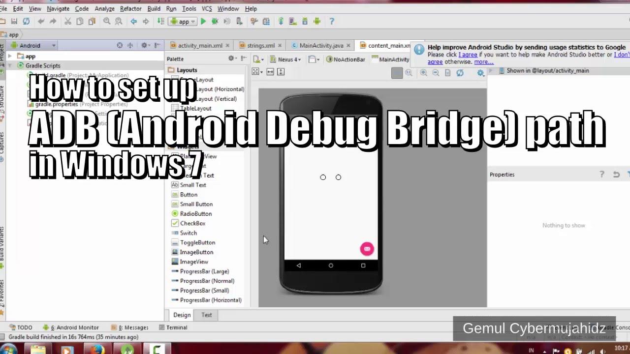 How to set up ADB path in Windows 7 (Android Debug Bridge)