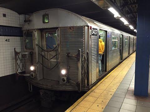 NYC Subway HD 60fps: Riding Budd R32 3437 [RFW] Jay Street-Metrotech to 42nd Street-PABT (10/6/17)
