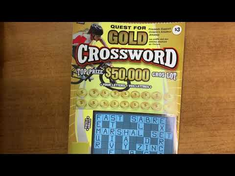 QUEST FOR GOLD CROSSWORD, OLG, Scratch Ticket, Ontario Lottery And Gaming