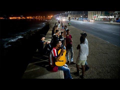 Reacciones en el Malecón de La Habana tras la muerte de Fidel Castro