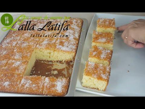 gâteau-à-la-noix-de-coco-au-thermomix-كيك-عائلي#cake#كيك#طرطة@recette-chef-latifa