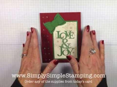 Simply Simple Flash Cards Love Joy Christmas Card By