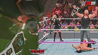 WWE 2K19: Dean Ambrose Updated Heel Mask & Hair Attire Mod w/ GFX & Theme ft. Seth Rollins - TLC