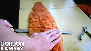 Slicing Smoked Salmon - Gordon Ramsay