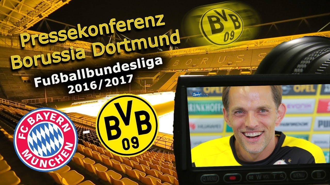 FC Bayern München - Borussia Dortmund: Pk mit Thomas Tuchel zum Ligaklassiker