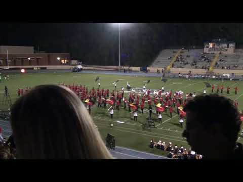 Gainesville HS marching band halftime show 09 29 2017 at Marist School