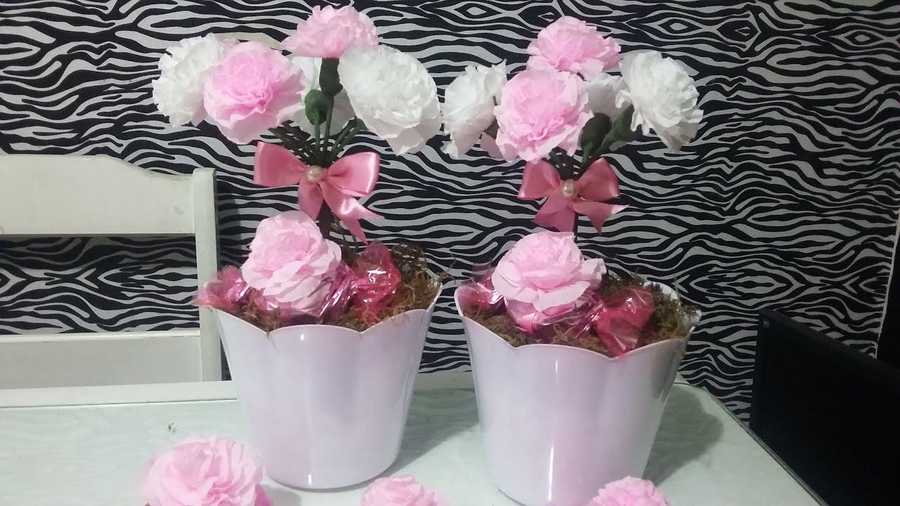 Aula 29 Como Fazer Arranjos Com Flores De Papel Crepom Artesanato