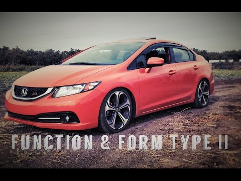 Lowered on Function and Form Type 2 (2015 Honda Civic Si)