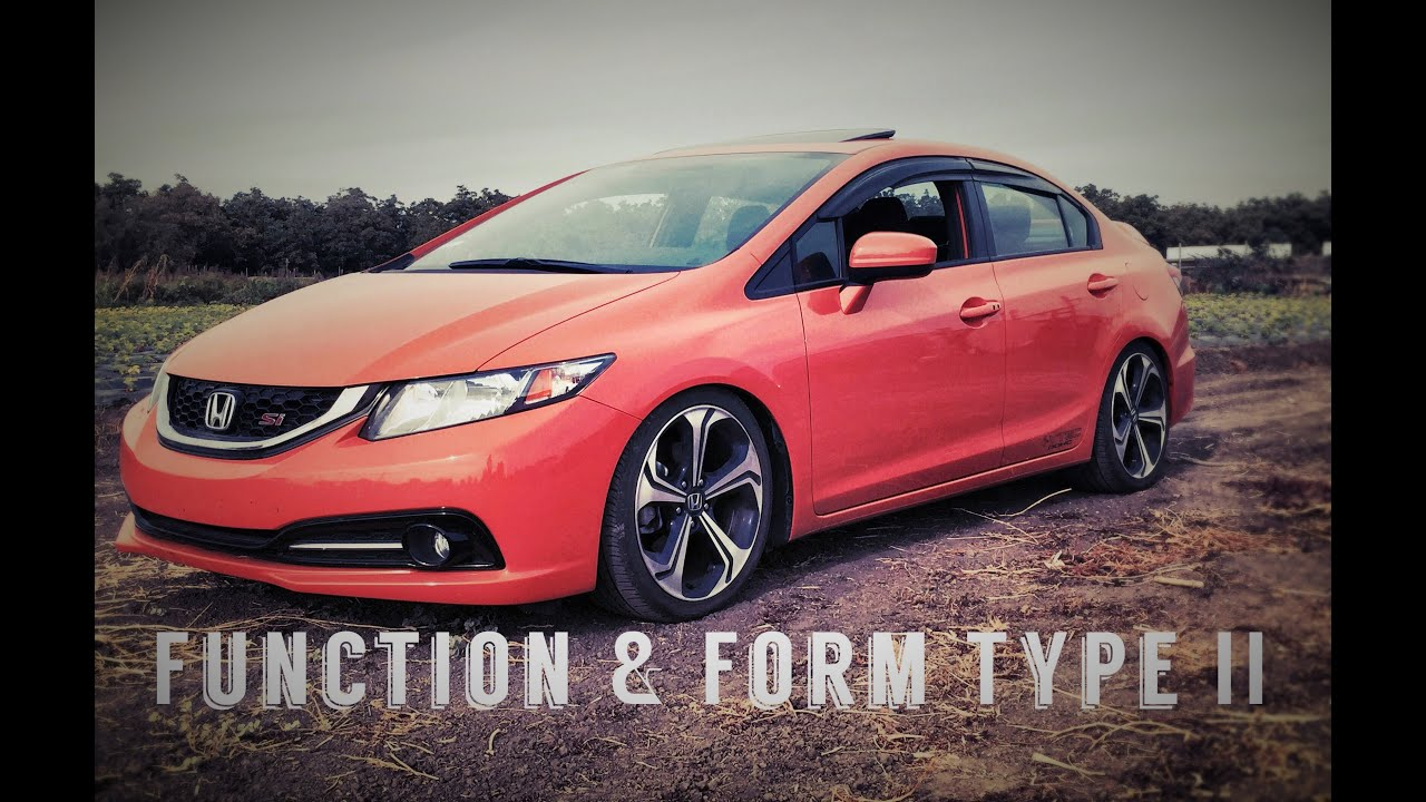 Lowered on Function and Form Type 2 (2015 Honda Civic Si) - YouTube