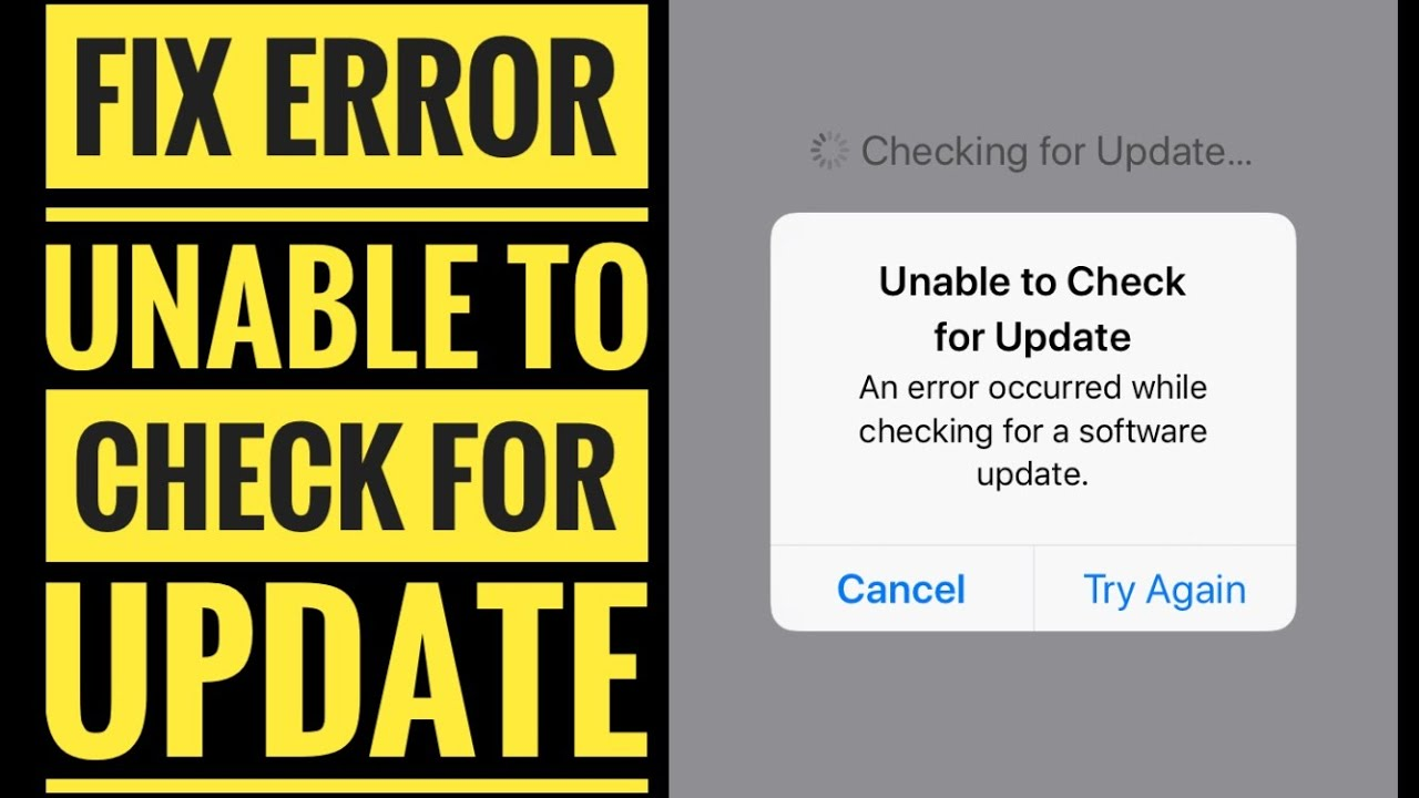 Fix Unable to Check for Update iOS 12/ iOS 13 on iPhone, iPad, iPod