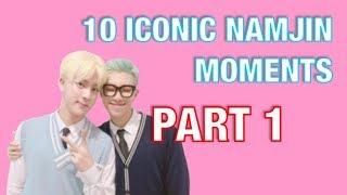 10 iconic namjin moments | rap monster x jin  [part1/2]