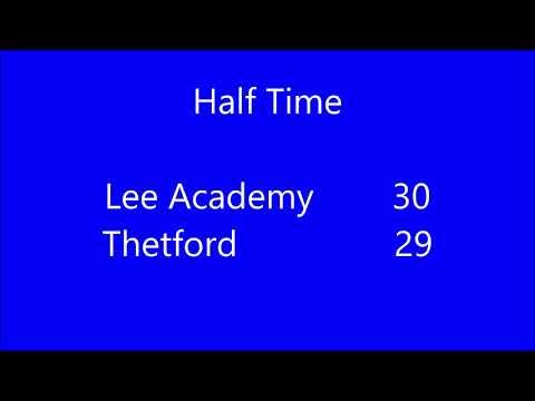 Lee Academy Vs  Thetford Gold Highlights 10/28/18