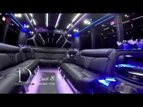 Party Bus Rental: Luxury Coach 8  | Dream Limousines Detroit MI