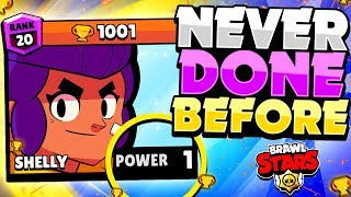 1000 Trophy Power LEVEL 1 Shelly! - NEVER Done Before In Brawl Stars! - Showdown Gameplay!