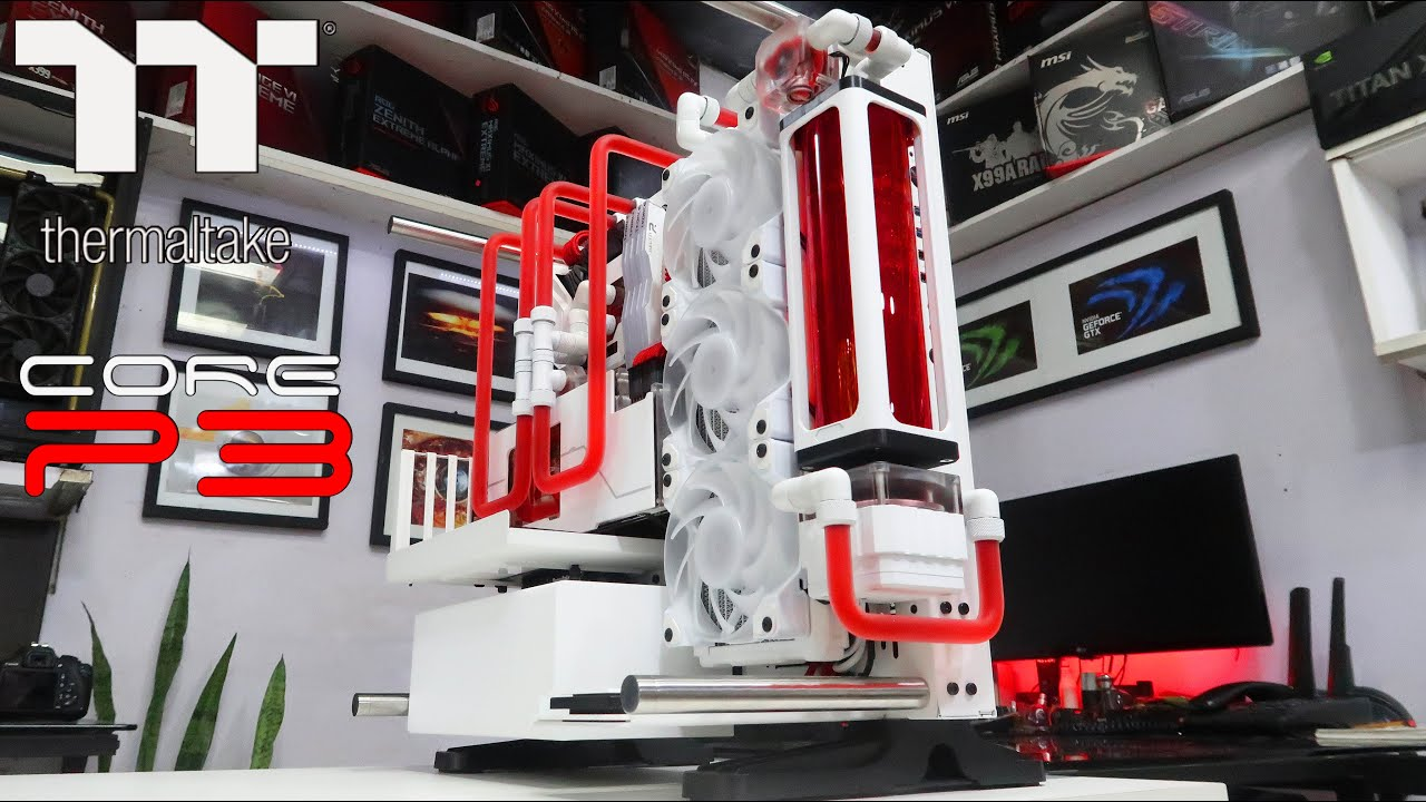 "Custom Pc Build #76  "" Red Mist "" Gaming, Streaming PC on a Thermaltake Core P3."