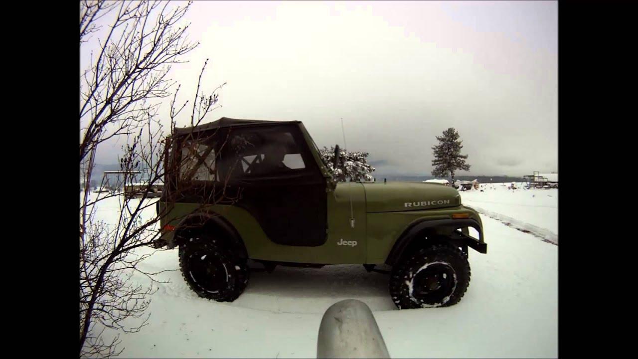 diesel jeep snow cj5 om617 youtube. Black Bedroom Furniture Sets. Home Design Ideas