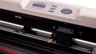 USCutter Model SC Series Vinyl Cutter 50¨ - cutting white vinyl at 800mm/s speed
