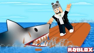 The Shark Ate Our Boat!! - Roblox SharkBite with Panda