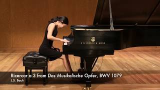 J.S. Bach - Ricercar a 3 from Das Musikalische Opfer (The Musical Offering), BWV 1079 피아니스트 곽지향