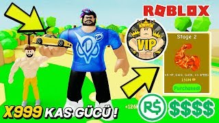 THE FASTEST MUSCLE STRENGTH CONTRACTION! X999 KAS 💪 Lifting Simulator / Roblox English