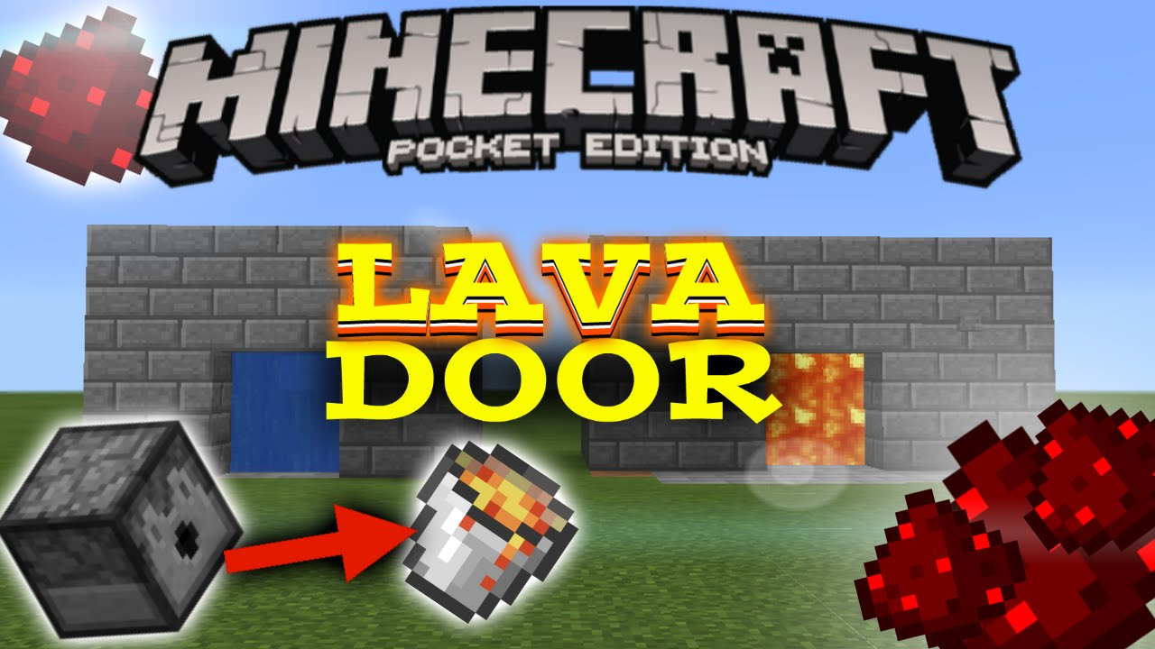 how to hold lava in minecraft pe