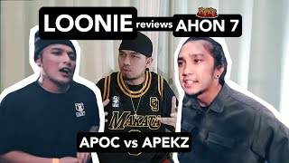 LOONIE | BREAK IT DOWN: Rap Battle Review E141 | AHON 7: APOC vs APEKZ