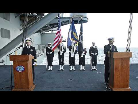 Burial at Sea Aboard USS Ronald Reagan (CVN 76)