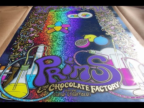 PRIMUS & the Chocolate Factory - Tucson, AZ 2015 Fall Tour Poster By Gumball Designs - Candy Man