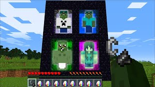 ZOMBIE FAMILY GETS NEW PORTALS In Minecraft !!