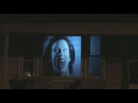 halloween window projection effect for 2015