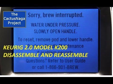 Keurig 2.0 Model K200 Brew Interrupted - Permanent Fix