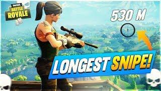 LONGEST Snipe RECORD in Fortnite: Battle Royale!