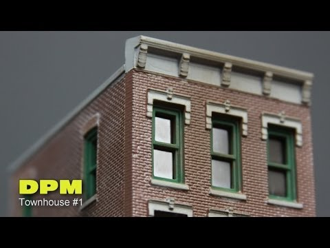 Model Railroad Layout Building DPM Townhouse #1 How To