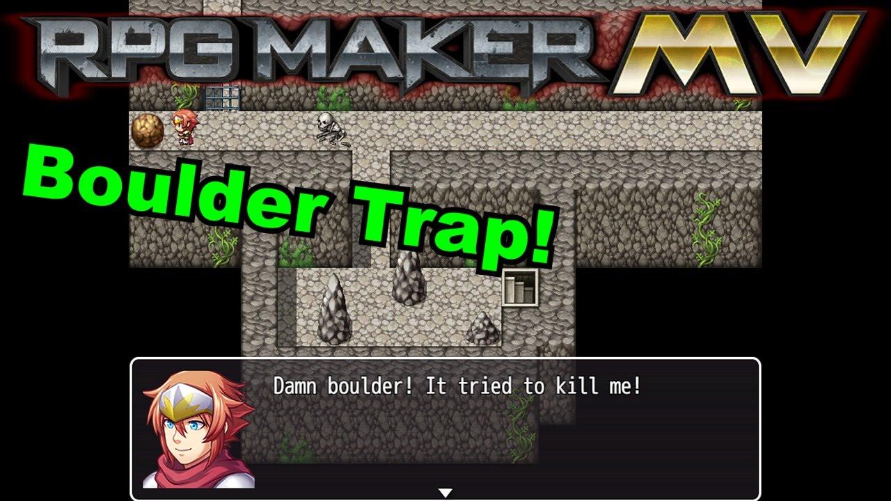 RPG Maker MV - Simple Boulder Trap Event Tutorial
