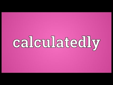 Header of calculatedly