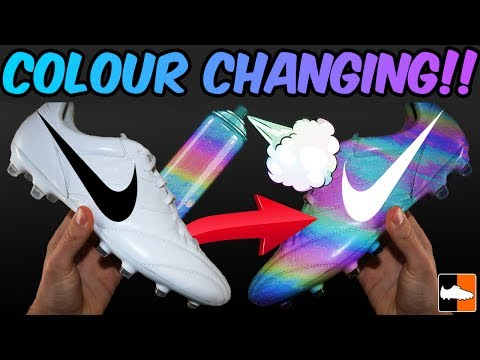 2e2c215f8449 Unbelievable Nike Boot!! Custom Colour Changing Soccer Cleats - YouTube