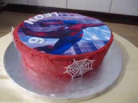 Spiderman Torte Kuchen Spinnennetze Geburtstags Kuchen Youtube